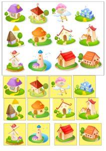Найди одинаковый домик