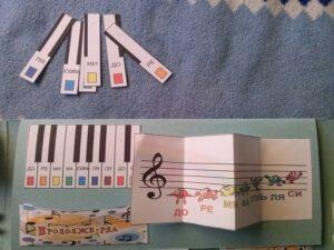 Лэпбук, музыка, нотный стан