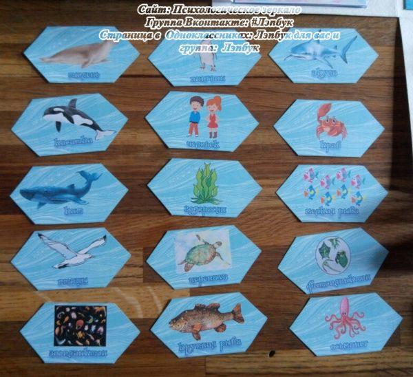 Лэпбук, море, кто живет, морские жители, обитатели моря, скачать, своими руками, купить