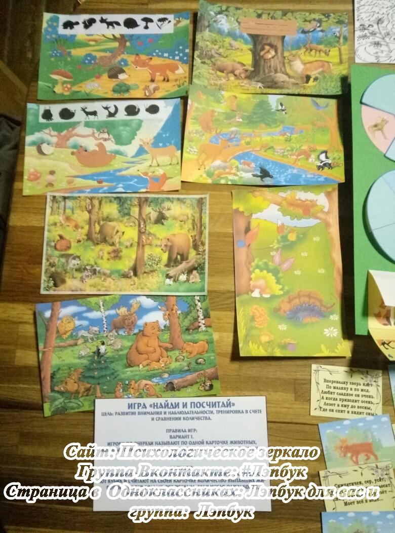 Лэпбук, лесные, дикие животные, своими руками, кармашки, шаблоны, купить, скачать