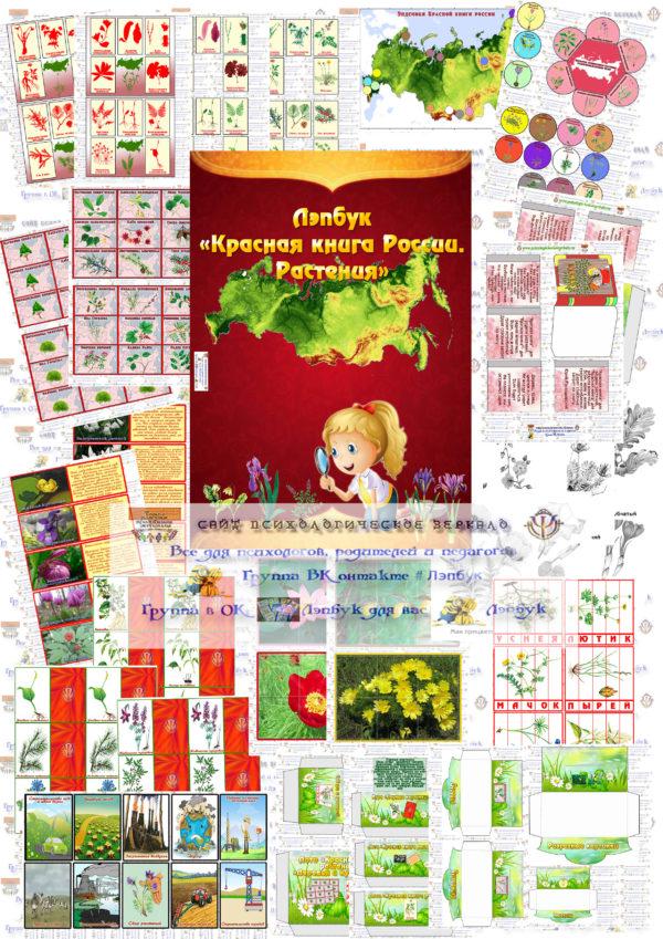 Красная книга растений, лэпбук, экология, своими руками, купить, скачать,