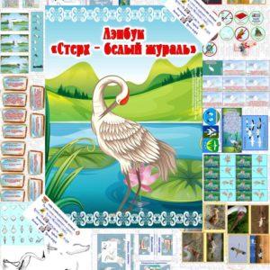 Лэпбук, Стерх, журавль, белый, птица, экология, защита, экологические знаки