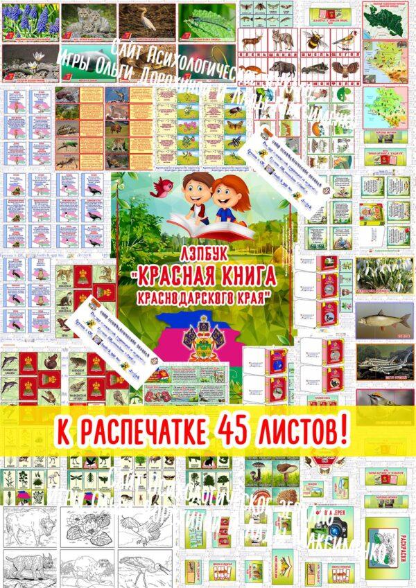 Лэпбук Красная книга Краснодарского края